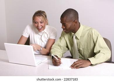 girl shocked at computer image