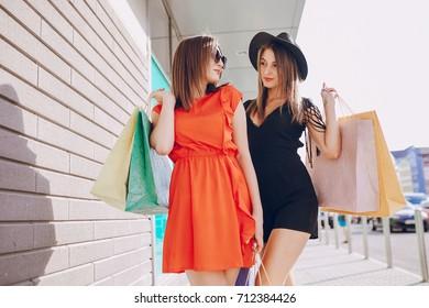 girl is shopping