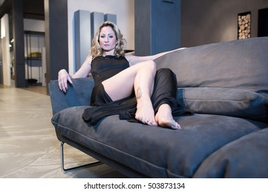 Girl in a Show Room , bedroom , bathroom , living room