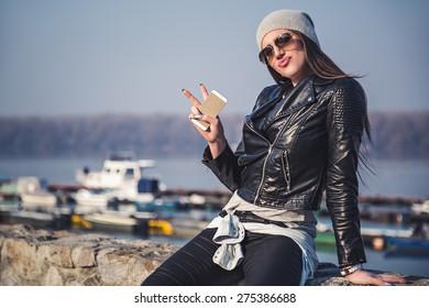Girl showing attitude