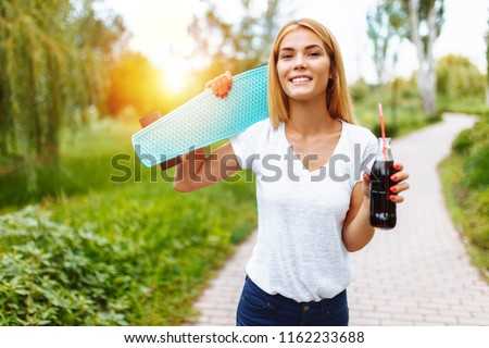 Girl with a skate
