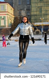 Girl skating in the park
