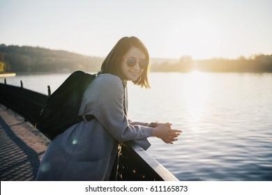 Girl smiling.