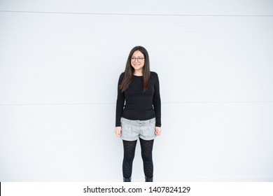 Girl smiling and enjoying her day in a mall