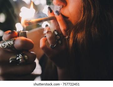 Girl Smoking Marijuana Stock Photos, Images \u0026 Photography