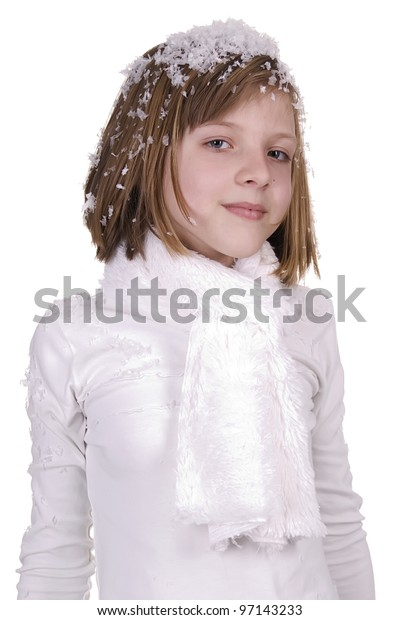 girl in to snow