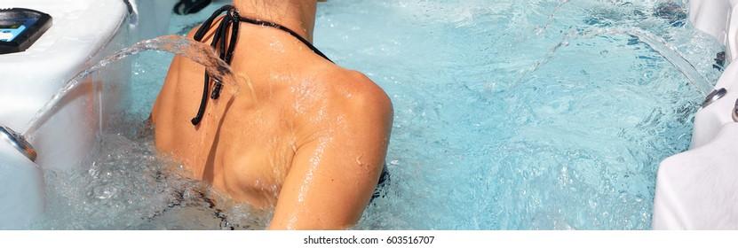 Girl in spa