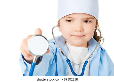 girl with a stethoscope