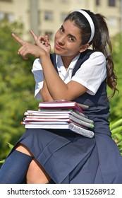Girl Student Portrait Wearing Uniform