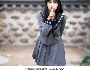 girl student in school uniform japanese style