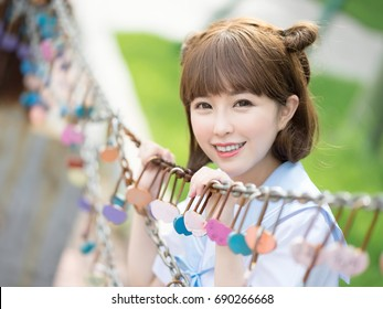 girl student in school uniform japanese style