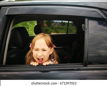 Girl and summer in the car