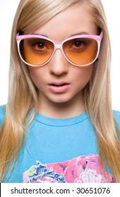 girl in sun-glasses