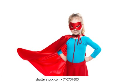 Girl superhero. Concept of strong free woman.
