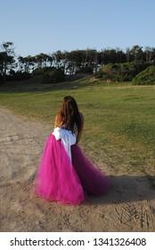 Girl sweet sixteen dress pink