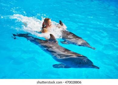 57965d49 Imágenes, fotos de stock y vectores sobre Dolphin Girl | Shutterstock