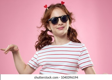 girl with tails and glasses