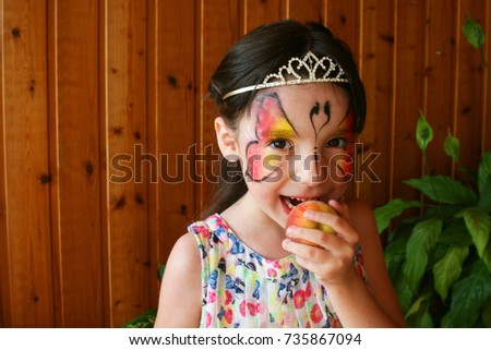 Girl Tattoo On Her Face Stock Photo Edit Now 735867094 Shutterstock