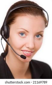 girl - telephone operator