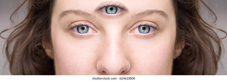 Girl with third eye