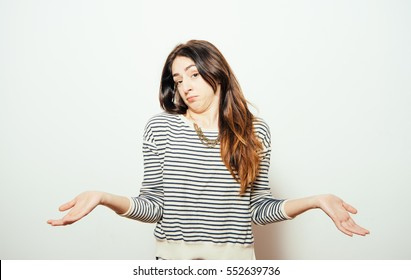 Girl throws up his hands