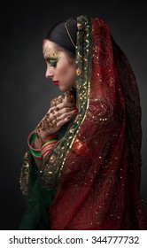 Girl in traditional Indian clothing