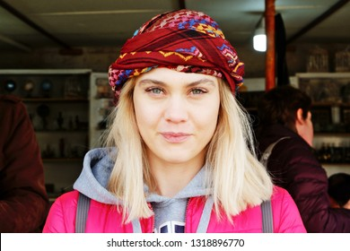 Girl in traditional middle east clothes, Lebanon