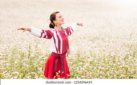 Girl in a traditional slavic attire