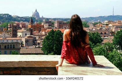 Girl in Trastevere