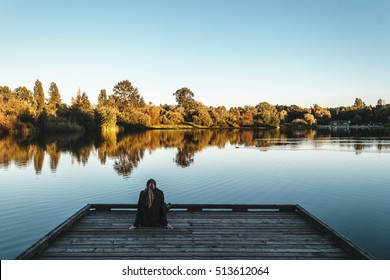 Girl at Trout Lake, Vancouver, Canada