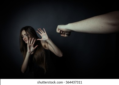 Girl trying to escape from domestic violence