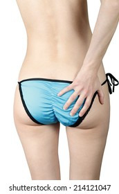 Girl in turquoise panties