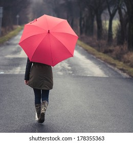 Girl under Rain