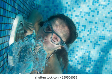 Girl under the water