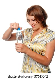 Girl with a water bottle