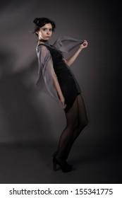 Girl wearing conceptual clothing