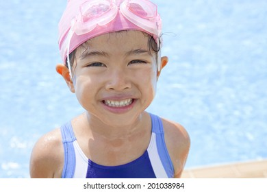 Girl wearing a swimsuit
