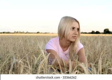 The girl in the wheat