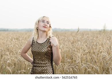 Girl with wheat