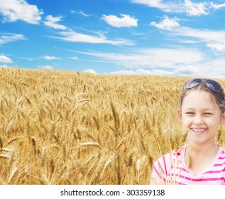 girl and a wheat field