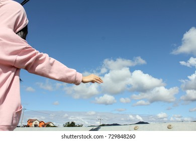 A girl who took a cloud