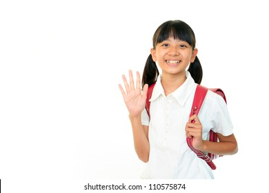 The girl who waves her hand
