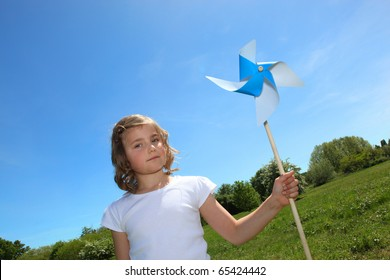 Girl with a windmill
