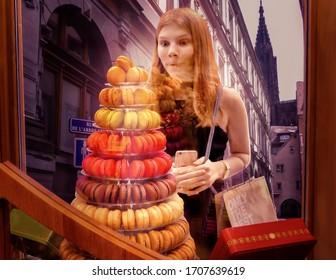 girl wishing to get macarons