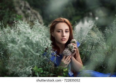 the girl in the woods, forest