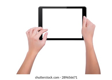 Girl working on a tablet