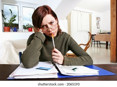 girl, young woman having financial problems