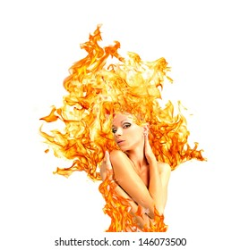 girl-fire, advertising