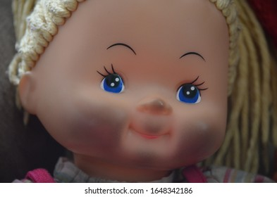 The girl's baby doll, Macro shot
