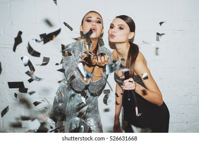 Girls in confetti